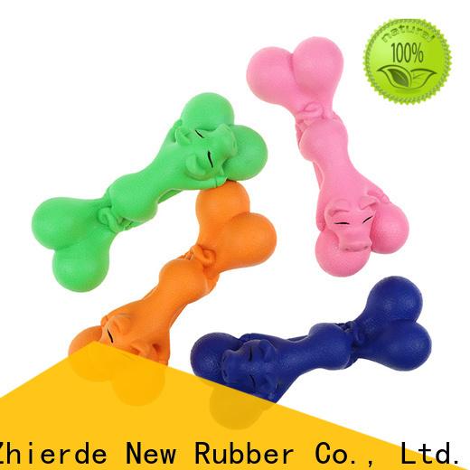 safe rubber bone dog toy manufacturer for teething