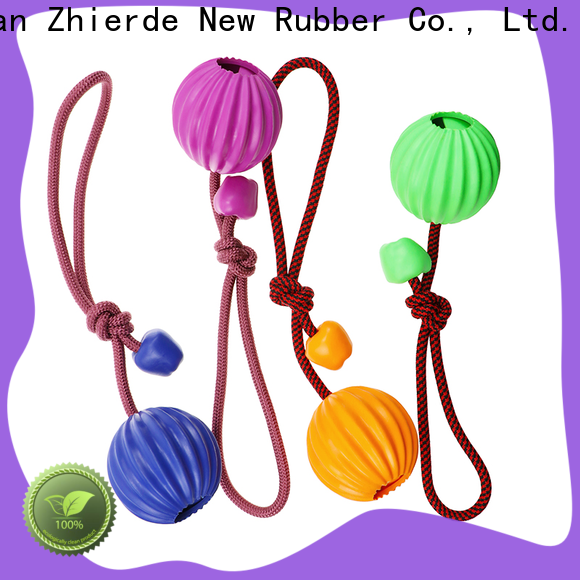 Zhierde dog rope chew toy factory direct supply for chewing