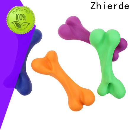 Zhierde rubber dog bone with good price for playing