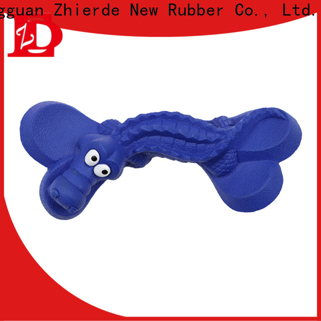 Zhierde high quality rubber dog bone factory direct supply for exercise