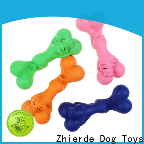 Zhierde durable rubber dog bone factory direct supply for chewing