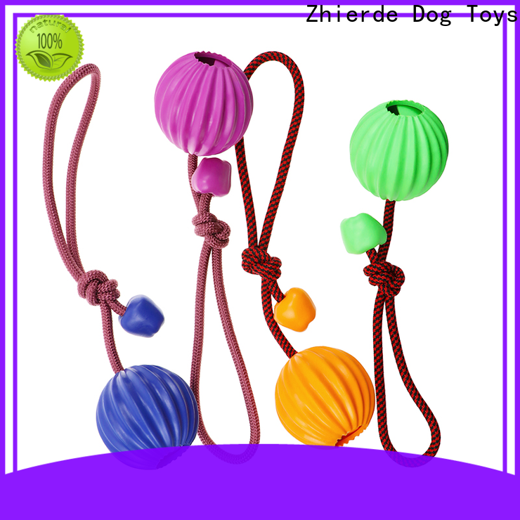 Zhierde dog rope chew toy factory direct supply for teething