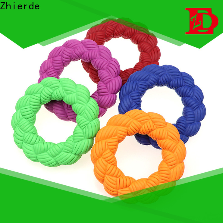 Zhierde attractive rubber squeaky dog toys supply for training