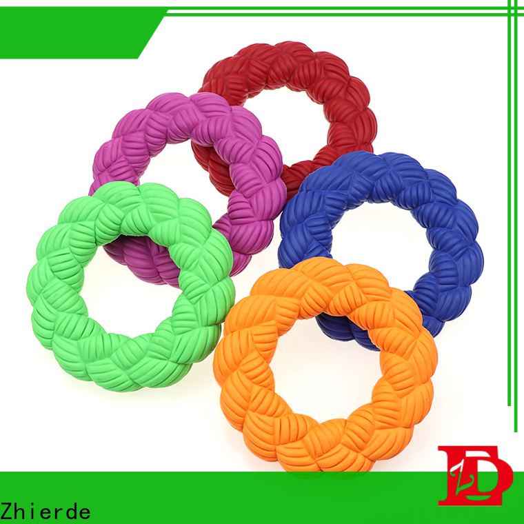 Zhierde durable rubber squeaky dog toys manufacturers for chewing