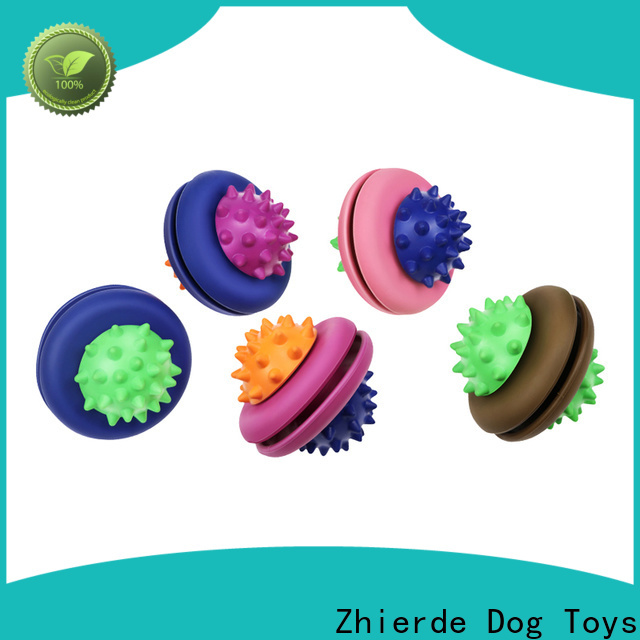 Zhierde top dog food dispenser toy with good price for playing