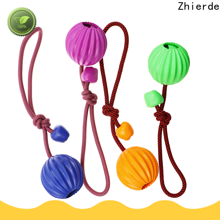 Zhierde dog rope chew toy supplier for pet