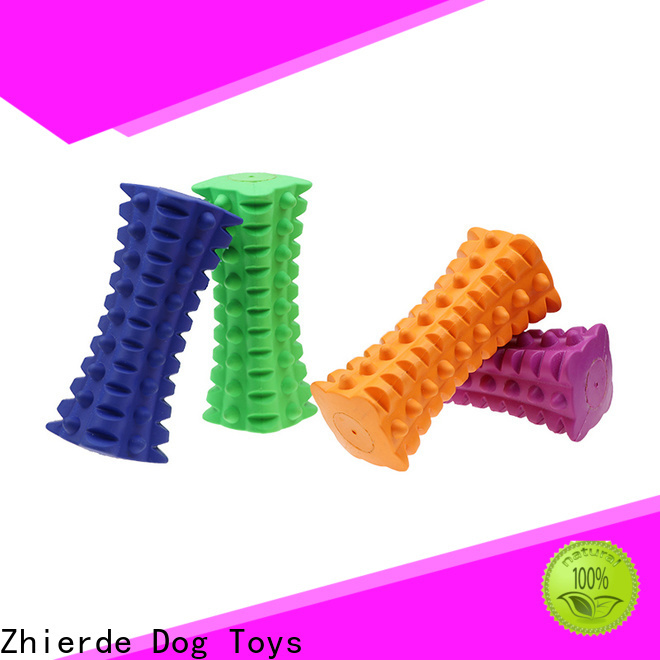 Zhierde new indestructible rubber dog toys supply for chewing