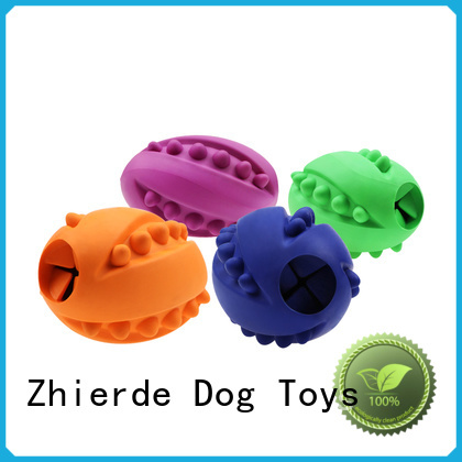 Zhierde latest dog food dispensing toy with good price for training