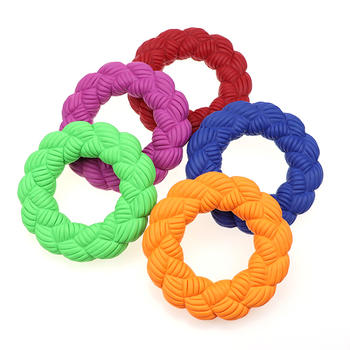 Ring Toy Dog Interactive Dog Squeaky Toy Rubber Puppy Squeaky Toys