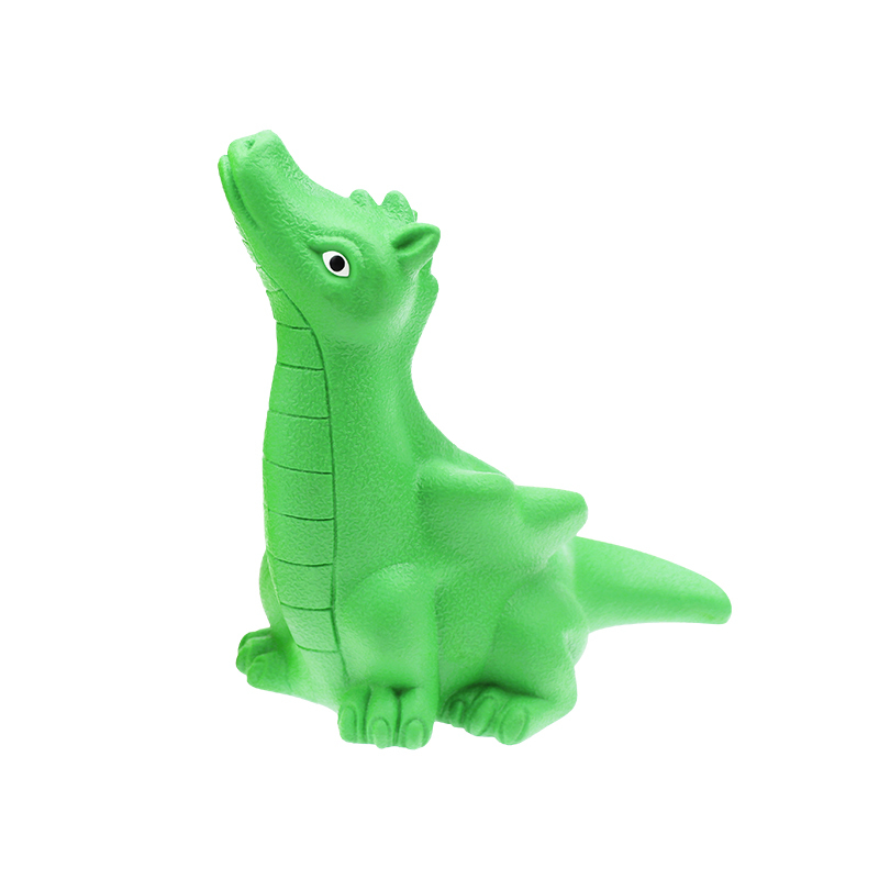 Cute Rubber Dinosaur Indestructible Dog Squeaky Toy