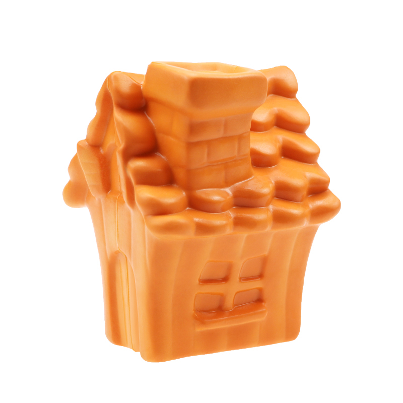 Eco-friendly Rubber Food Dispensing Puzzle Toy For Pet Dogs