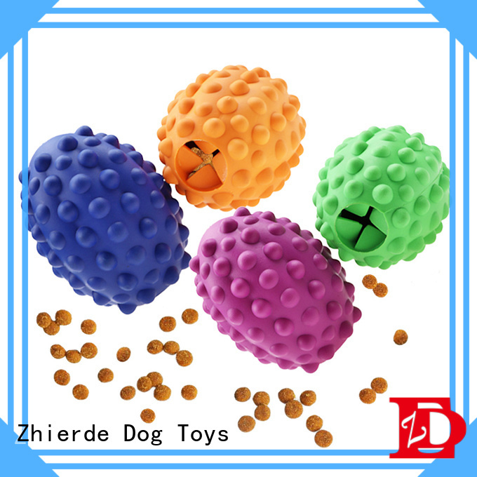 Zhierde dog food dispensing toy with good price for exercise